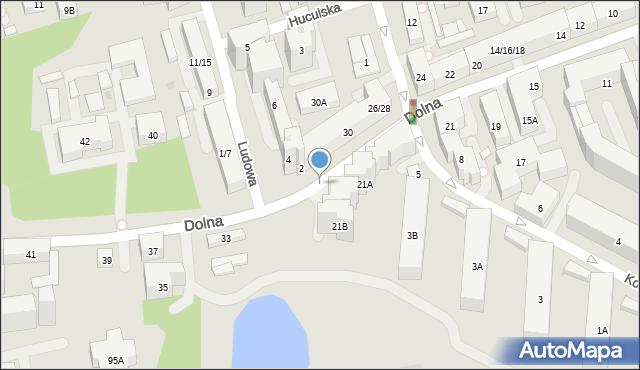 Warszawa, Dolna, 12b, mapa Warszawy