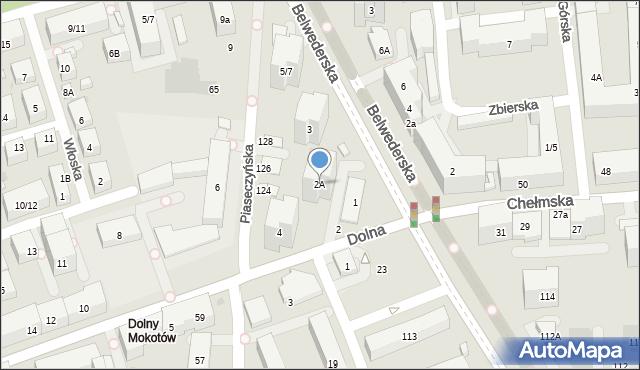 Warszawa, Dolna, 2A, mapa Warszawy