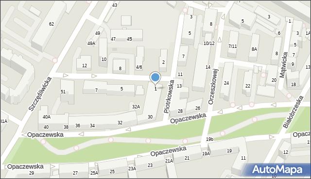 Warszawa, Dobosza, 1, mapa Warszawy