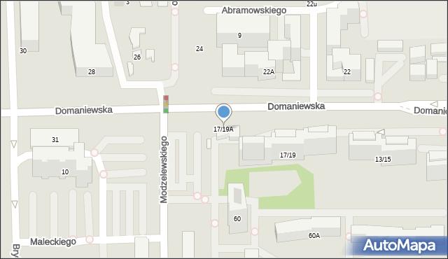 Warszawa, Domaniewska, 17/19A, mapa Warszawy