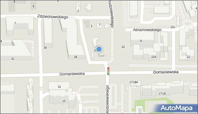 Warszawa, Domaniewska, 26A, mapa Warszawy