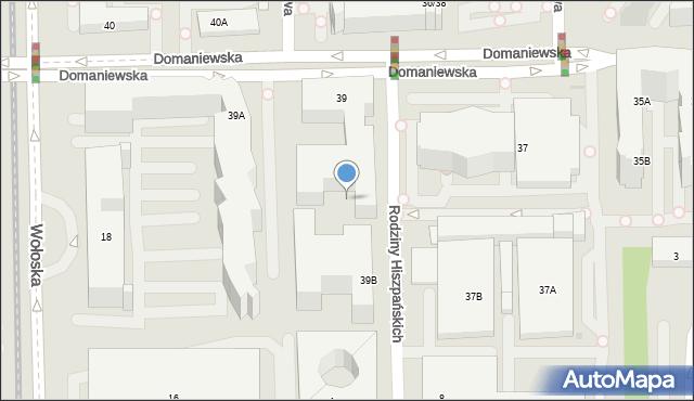 Warszawa, Domaniewska, 29a, mapa Warszawy