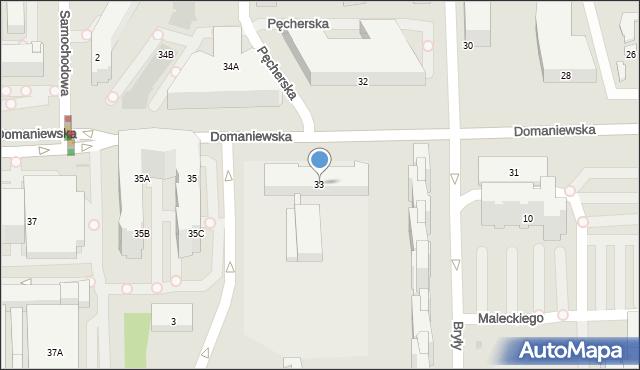 Warszawa, Domaniewska, 33a, mapa Warszawy