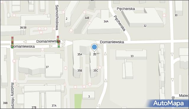 Warszawa, Domaniewska, 35, mapa Warszawy