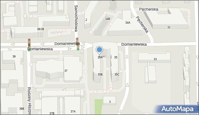 Warszawa, Domaniewska, 35A, mapa Warszawy