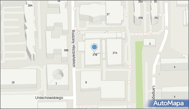 Warszawa, Domaniewska, 37B, mapa Warszawy