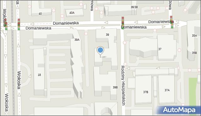 Warszawa, Domaniewska, 39k, mapa Warszawy