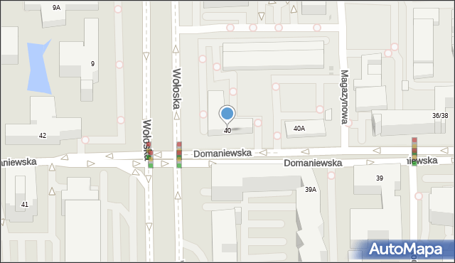 Warszawa, Domaniewska, 40, mapa Warszawy