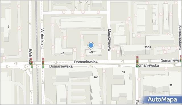 Warszawa, Domaniewska, 40A, mapa Warszawy