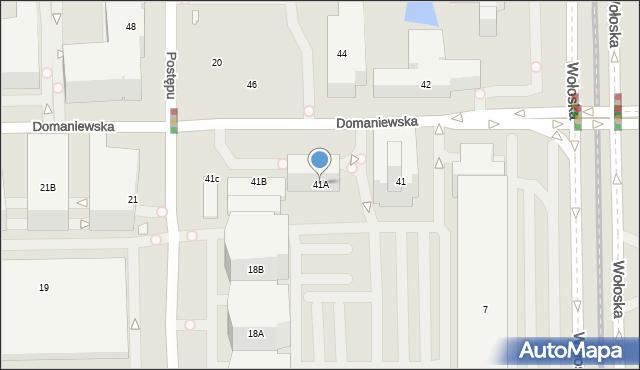 Warszawa, Domaniewska, 41A, mapa Warszawy