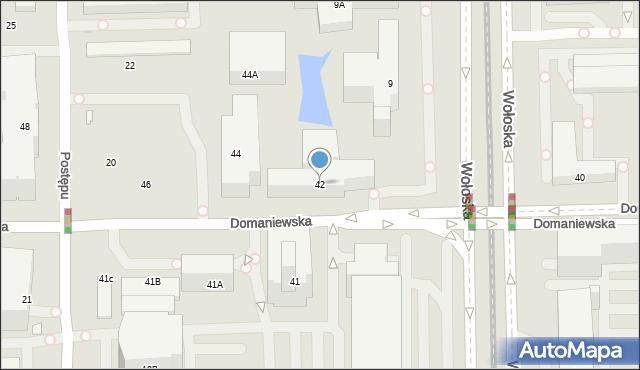Warszawa, Domaniewska, 42, mapa Warszawy