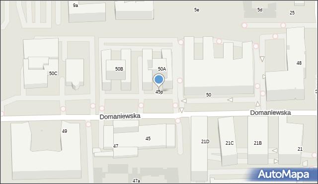 Warszawa, Domaniewska, 45p, mapa Warszawy