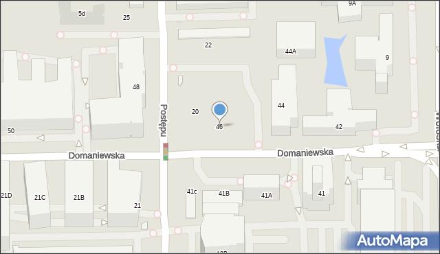 Warszawa, Domaniewska, 46, mapa Warszawy