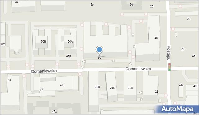 Warszawa, Domaniewska, 50, mapa Warszawy