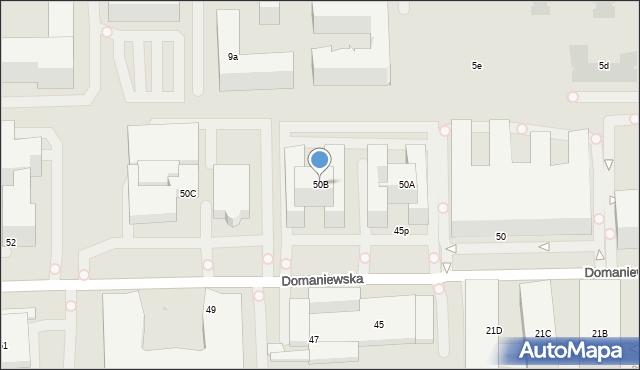 Warszawa, Domaniewska, 50B, mapa Warszawy
