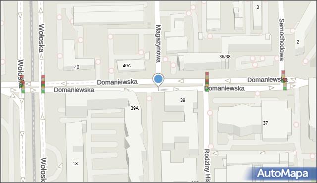 Warszawa, Domaniewska, 58, mapa Warszawy