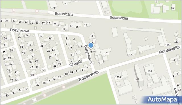 Zabrze, Dożynkowa, 5, mapa Zabrza
