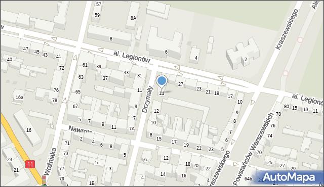 Bytom, Drzymały Michała, 14, mapa Bytomia