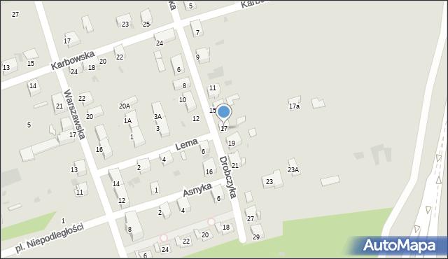 Bytom, Drobczyka Emanuela, 17, mapa Bytomia