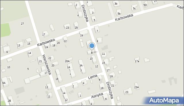 Bytom, Drobczyka Emanuela, 8, mapa Bytomia