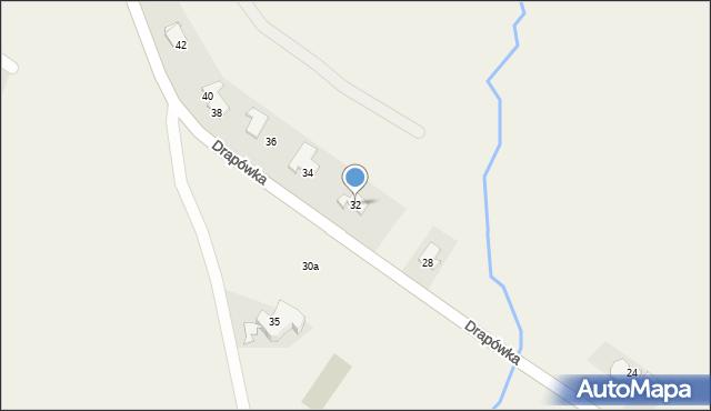Chocznia, Drapówka, 32, mapa Chocznia