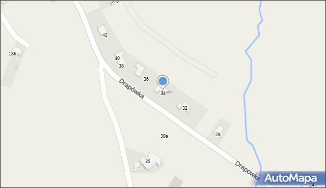 Chocznia, Drapówka, 34, mapa Chocznia