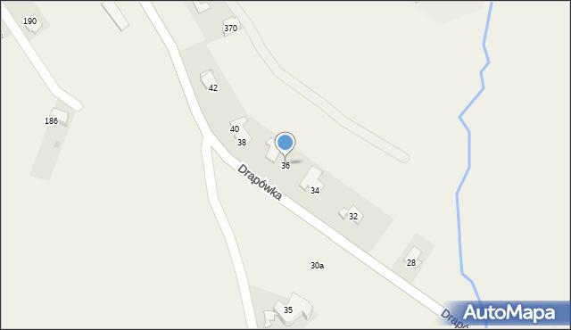 Chocznia, Drapówka, 36, mapa Chocznia
