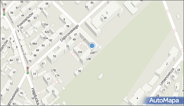 Chorzów, Drzymały Michała, 12A, mapa Chorzów