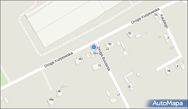 Grudziądz, Droga Bociania, 23a, mapa Grudziądza