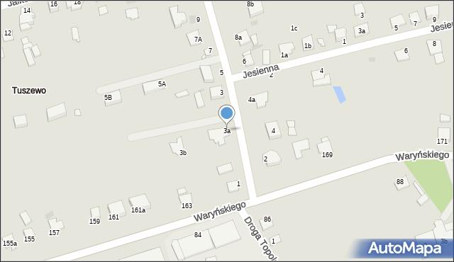 Grudziądz, Droga Bociania, 3a, mapa Grudziądza