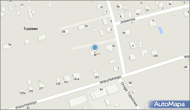 Grudziądz, Droga Bociania, 3b, mapa Grudziądza