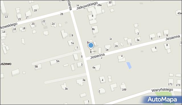 Grudziądz, Droga Bociania, 6, mapa Grudziądza