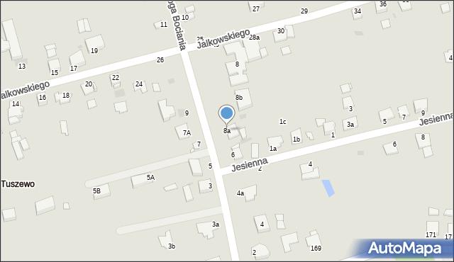 Grudziądz, Droga Bociania, 8a, mapa Grudziądza