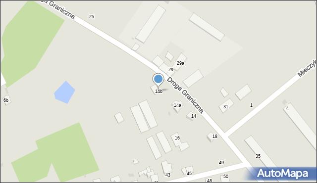 Grudziądz, Droga Graniczna, 14b, mapa Grudziądza