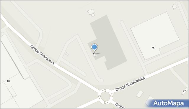 Grudziądz, Droga Graniczna, 21, mapa Grudziądza