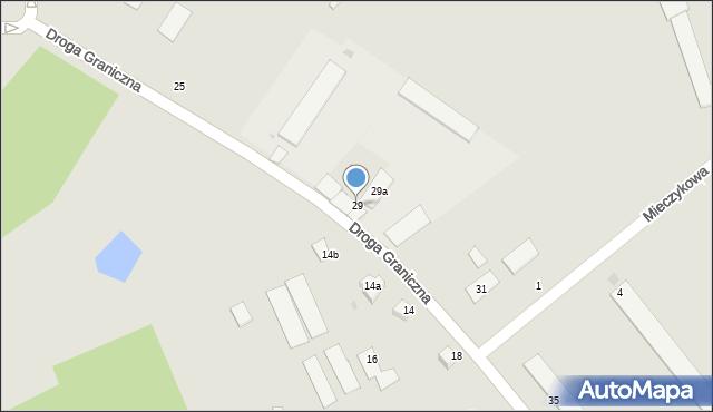 Grudziądz, Droga Graniczna, 29, mapa Grudziądza