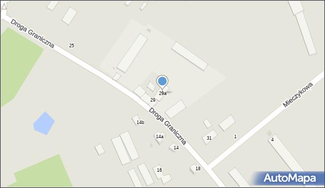 Grudziądz, Droga Graniczna, 29a, mapa Grudziądza