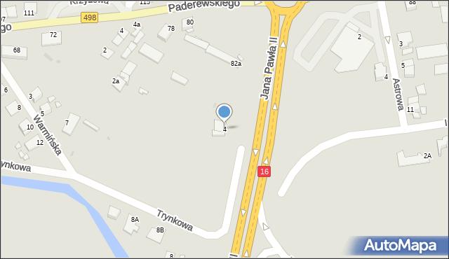Grudziądz, Droga Graniczna, 4, mapa Grudziądza