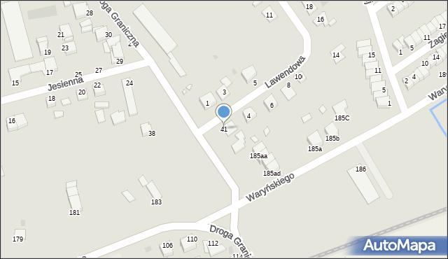 Grudziądz, Droga Graniczna, 41, mapa Grudziądza