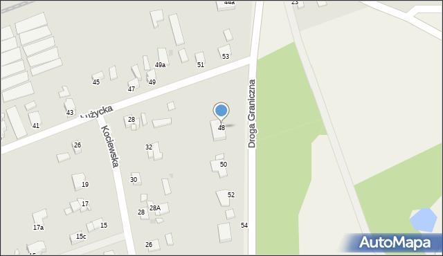 Grudziądz, Droga Graniczna, 48, mapa Grudziądza