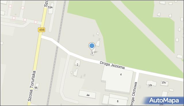 Grudziądz, Droga Jeziorna, 1, mapa Grudziądza