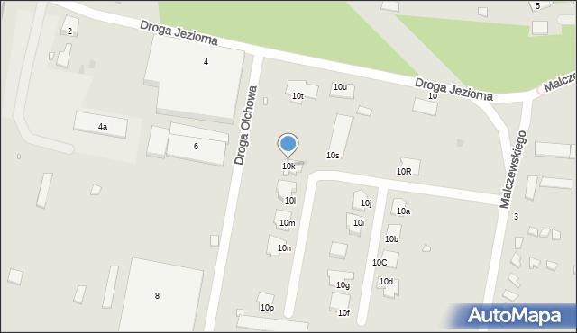 Grudziądz, Droga Jeziorna, 10k, mapa Grudziądza