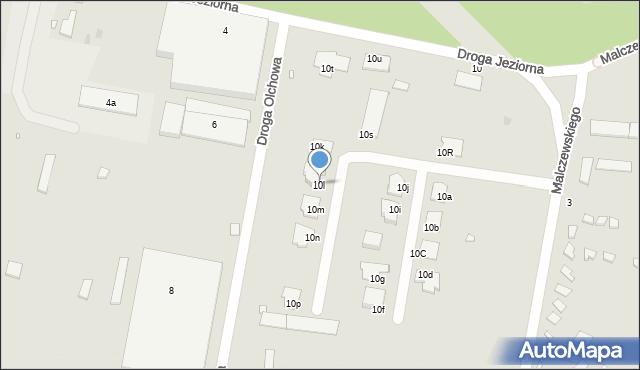 Grudziądz, Droga Jeziorna, 10l, mapa Grudziądza