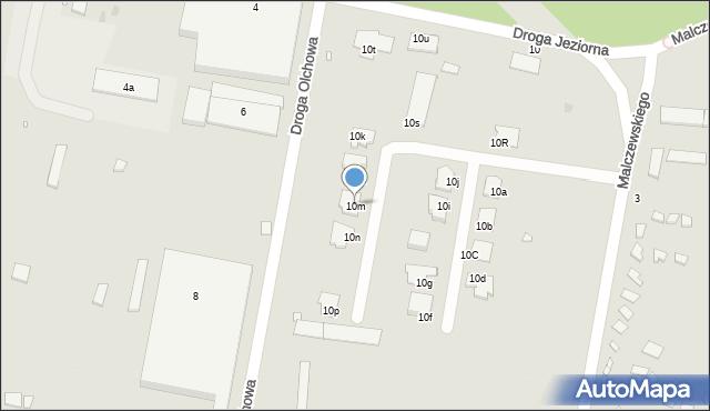 Grudziądz, Droga Jeziorna, 10m, mapa Grudziądza