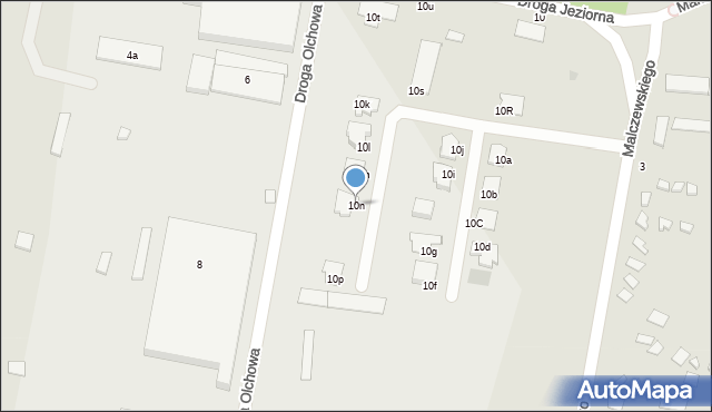 Grudziądz, Droga Jeziorna, 10n, mapa Grudziądza
