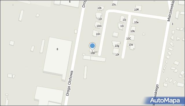 Grudziądz, Droga Jeziorna, 10p, mapa Grudziądza