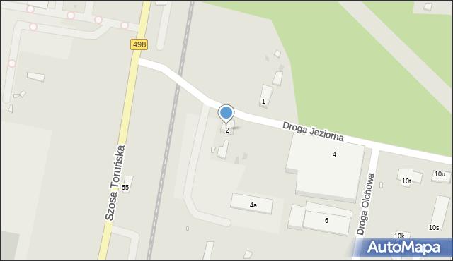 Grudziądz, Droga Jeziorna, 2, mapa Grudziądza