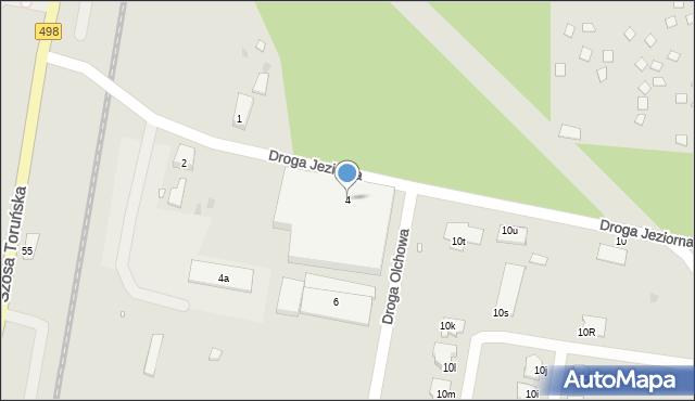 Grudziądz, Droga Jeziorna, 4, mapa Grudziądza