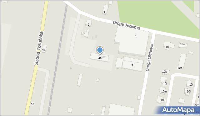 Grudziądz, Droga Jeziorna, 4a, mapa Grudziądza