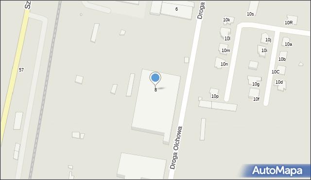 Grudziądz, Droga Jeziorna, 8, mapa Grudziądza
